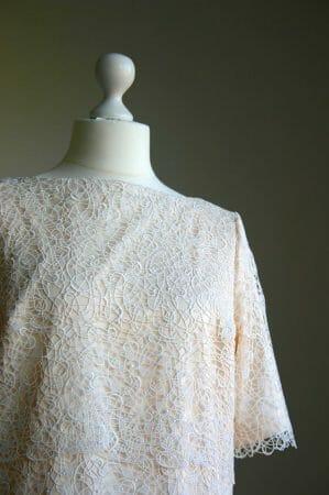 wunderbares vintageinspiriertes Hochzeitskleid mit Spitze der Modespitze Plauen