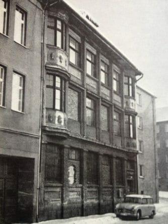 Das im Aus- und Umbau befindliche Geschäftshaus in der Annenstraße 9