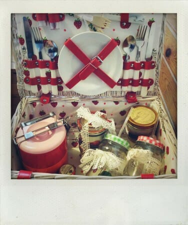 Modespitze-Blog-Picknick-Spitze-Meterware-Bordüre-korb Picknickkorb