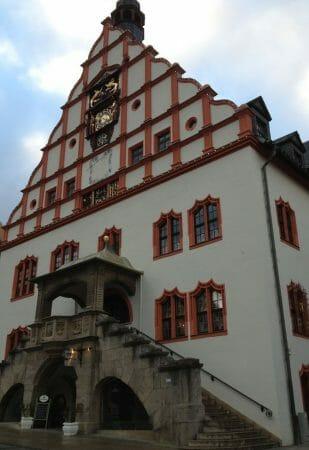 Das Plauener Spitzenmuseum am Altmarkt in Plauen