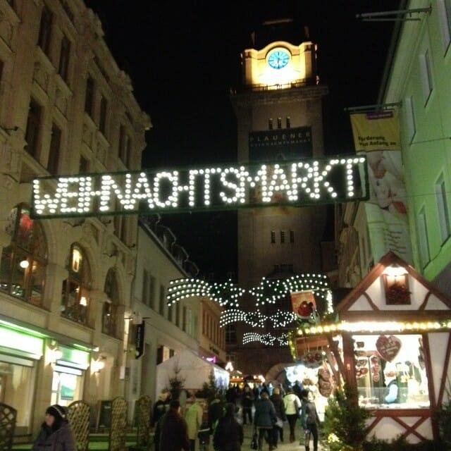 Die Geschichte des Weihnachtsmarktes und ein Bummel über den Plauener Weihnachtsmarkt