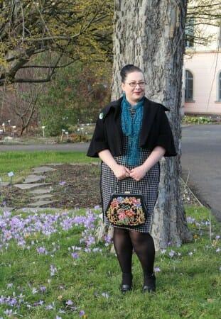 German Curves: Frühlingserwachen - Karo trifft Spitze - mein Frühlings-Outfit