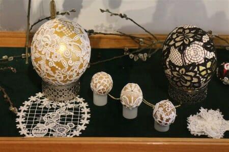 Eier und Plauener Spitze - eine wunderbare Kombination