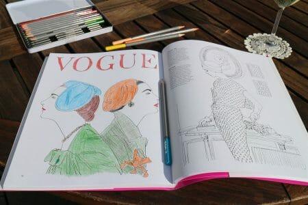 das Vogue Malbuch