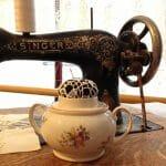 Vintageliebe und Nadelkissen mit Spitze – ein DIY