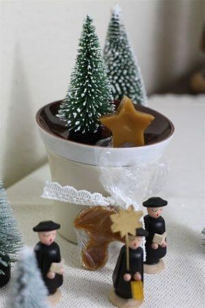ganz schnell gemacht - weihnachtliche Karamellbonbons