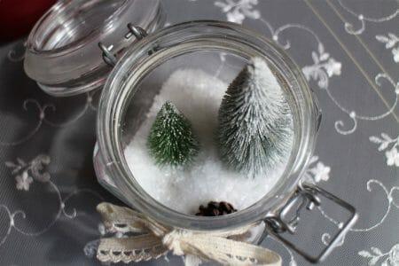 Winterlandschaft im Glas