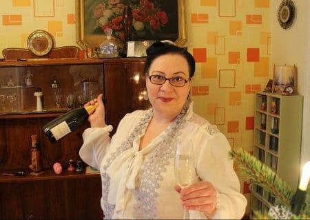 Mein Silvesteroutfit - Rock Persona by Marina Rinaldi Bluse Zizzi, Schal aus Plauener Spitze
