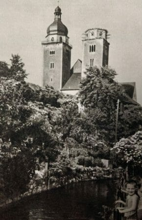 Die Johanniskirche in Plauen in den 50er Jahren