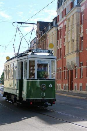 historische Straßenbahn in Plauen