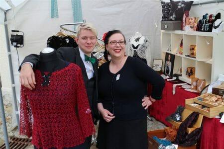Auf dem Textilmarkt 2016 mit unserem Standnachbarn Aurelius - Schönes von Männerhand