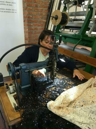 Das Spitzenmuseum in Caudry in Frankreich - Maschinen zur Herstellung der französischen Spitze