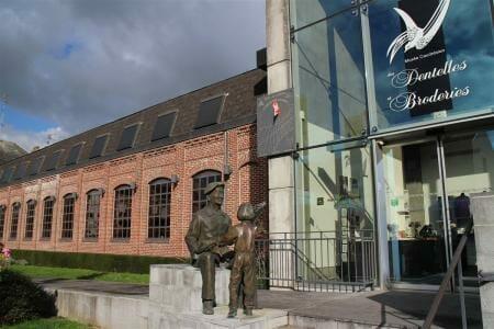 Das Spitzenmuseum in Caudry in Frankreich