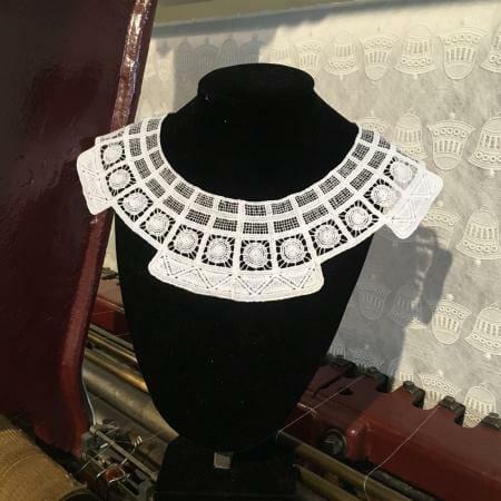 Plauener Spitze - Replik Bauhaus Kragen - Lace Collar