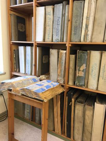 Musterbücher in der Schaustickerei in Plauen