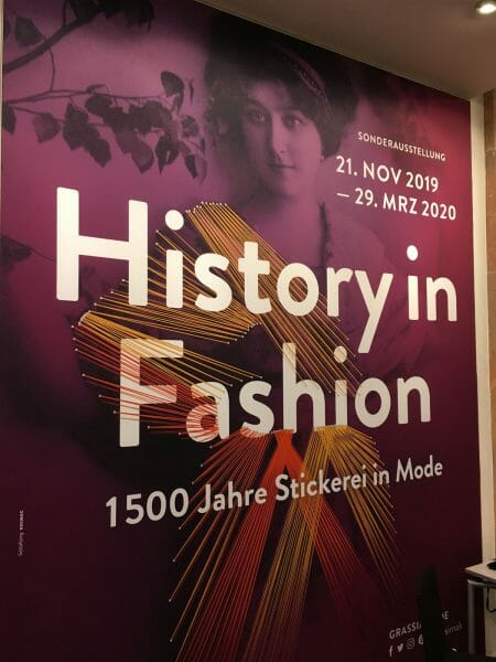 History in Fashion - Ausstellung im Grassimuseum in Leipzig über Stickerei