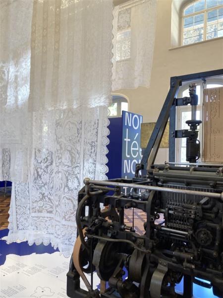 Nouveautes - Ausstellung über Plauener Spitze - Bedeutung der Kunstschule Plauen für die Spitzenindustrie Pillnitz